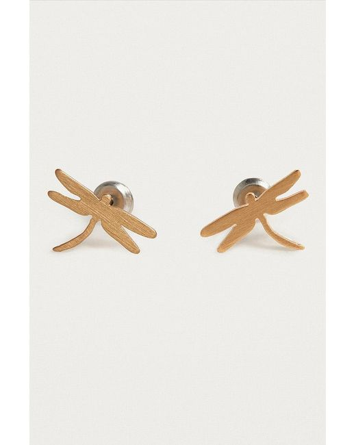 Urban Outfitters - Metallic Ditsy Dragonfly Stud Earrings - Lyst