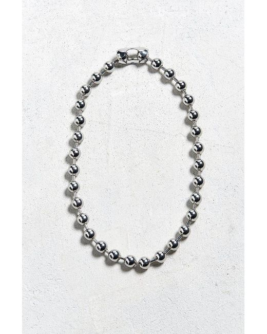 Urban Outfitters | Metallic Chrome Shot Beaded Necklace | Lyst