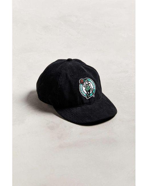 437595cfc51 KTZ - Black Boston Celtics Retro Corduroy Snapback Hat for Men - Lyst ...