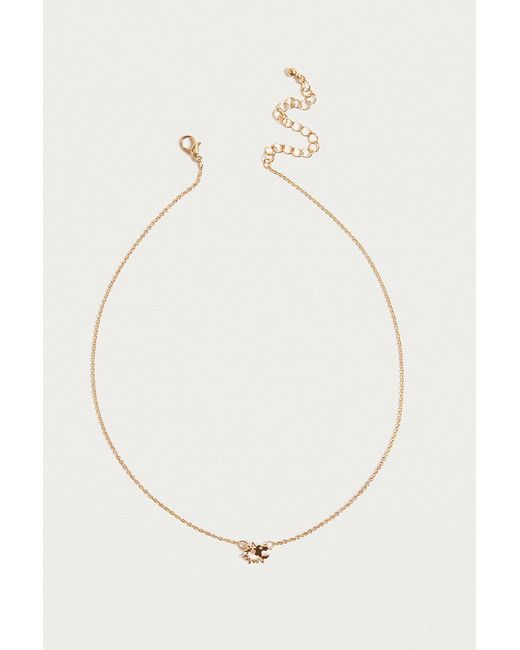 Urban Outfitters | Metallic Ditsy Lion Charm Necklace | Lyst