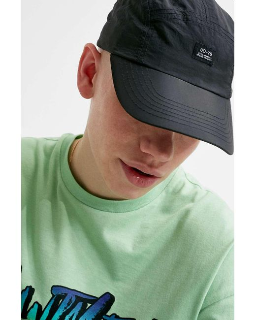 087a074eda20 Urban Outfitters Uo Black Crinkle Nylon 5-panel Cap - Mens All for men ...