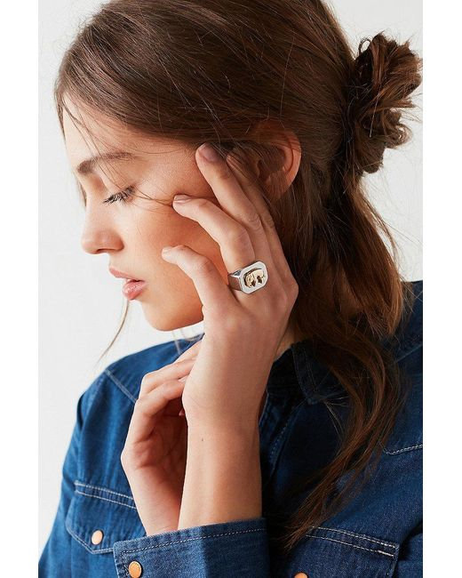 Urban Outfitters | Metallic Elephant Signet Ring | Lyst