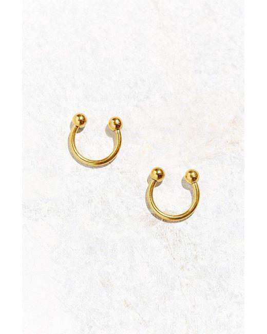 Urban Outfitters - Metallic Open Ball Hoop Earring - Lyst