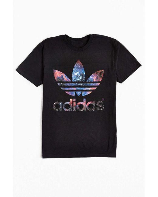 Adidas Originals | Black Originals Galaxy Trefoil Tee for Men | Lyst
