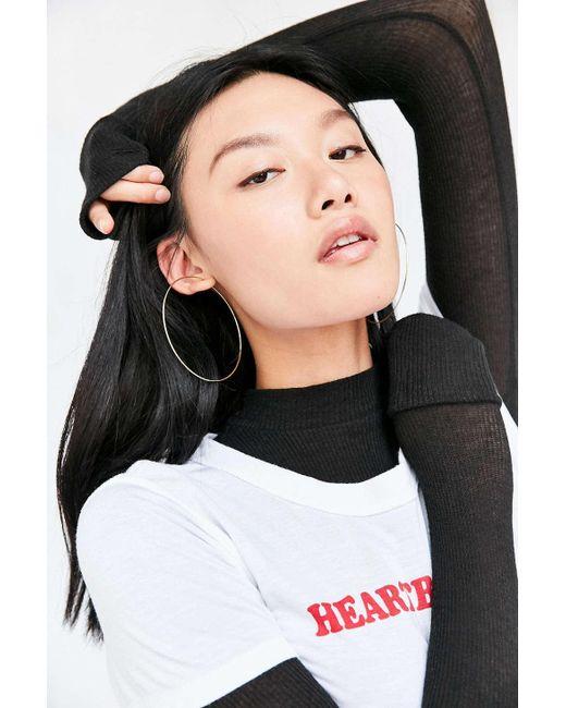Urban Outfitters | Metallic Sterling Silver + 18k Gold Plated Rachel Large Hoop Earring | Lyst