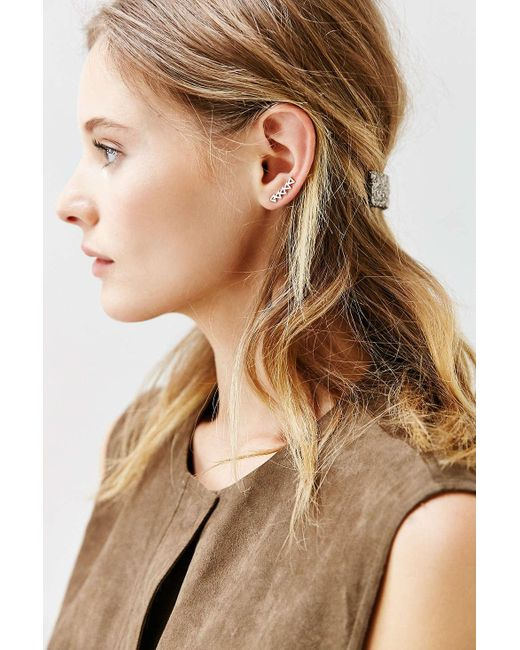 Urban Outfitters | Metallic Tiny Triangle Ear Climber Earring | Lyst