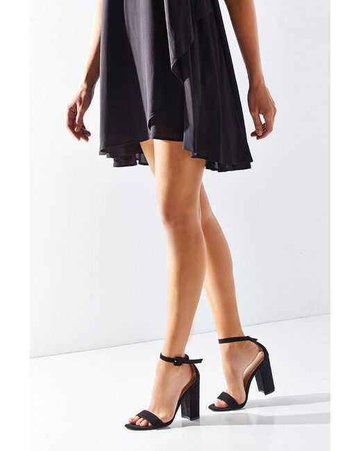Urban Outfitters | Black Thin Ankle Strap Heel | Lyst