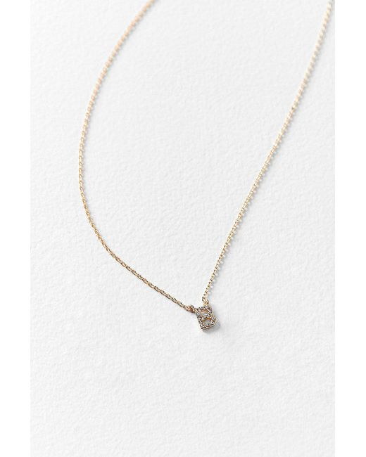 Urban Outfitters - Multicolor Rhinestone Initial Necklace - Lyst