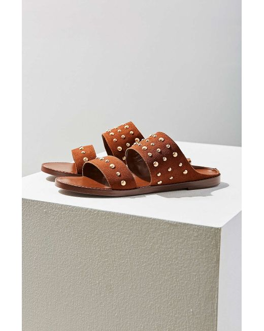 Urban Outfitters Studded Suede Slide In Brown Lyst
