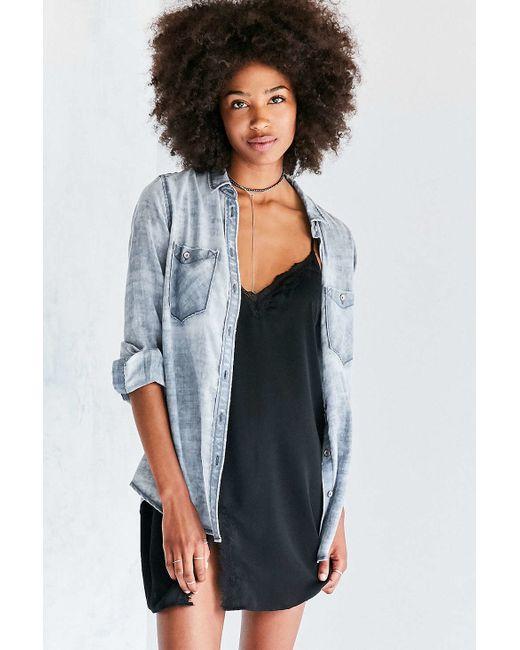 BDG   Blue Nelly Plaid Button-down Shirt   Lyst