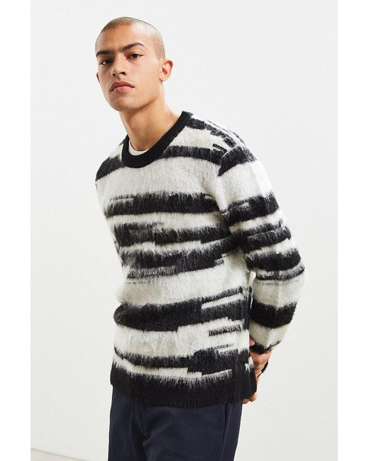 Urban Outfitters | Black Uo Shaggy Pattern Sweater for Men | Lyst