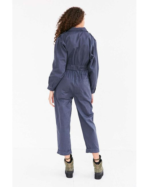 Bdg 80s High Waist Coverall Jumpsuit In Blue Lyst
