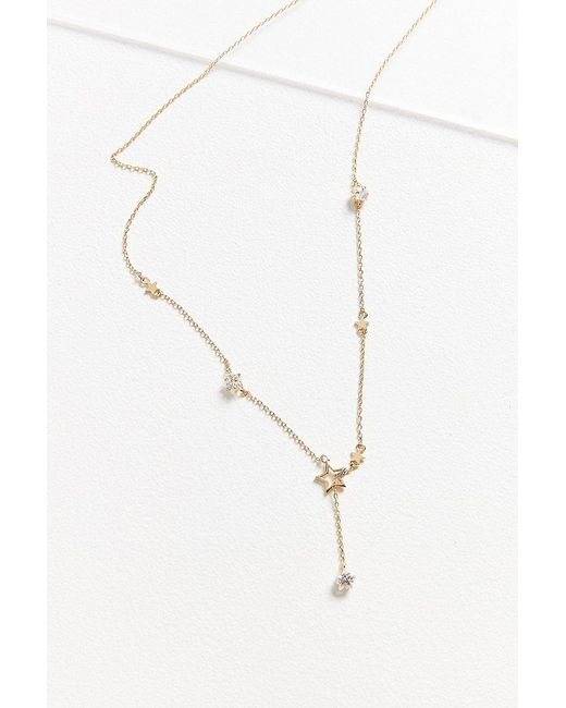 Urban Outfitters | Metallic Crystal Celestial Lariat Necklace | Lyst