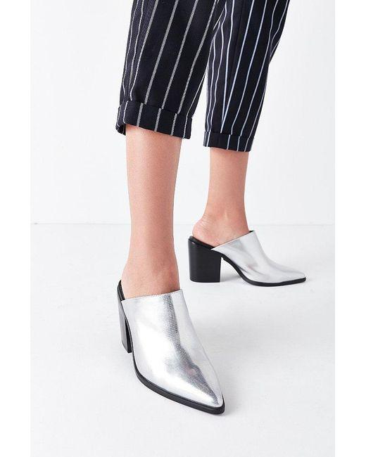 Urban Outfitters | Metallic Western Mule Heel | Lyst