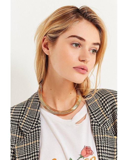 Urban Outfitters | Metallic Accordion Statement Necklace | Lyst