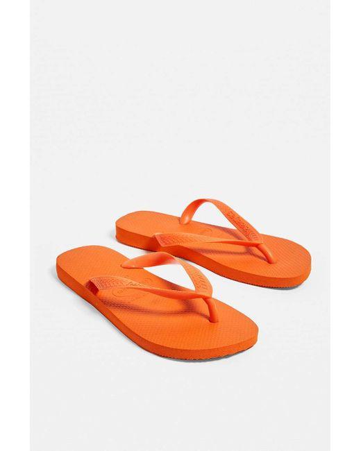 ebadf7451f82 Havaianas Top Neon Orange Flip-flops in Orange - Lyst