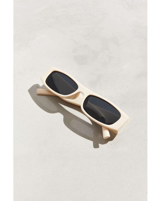fb0adbe745 ... Urban Outfitters - Multicolor Thick Temple Narrow Rectangle Sunglasses  for Men - Lyst ...