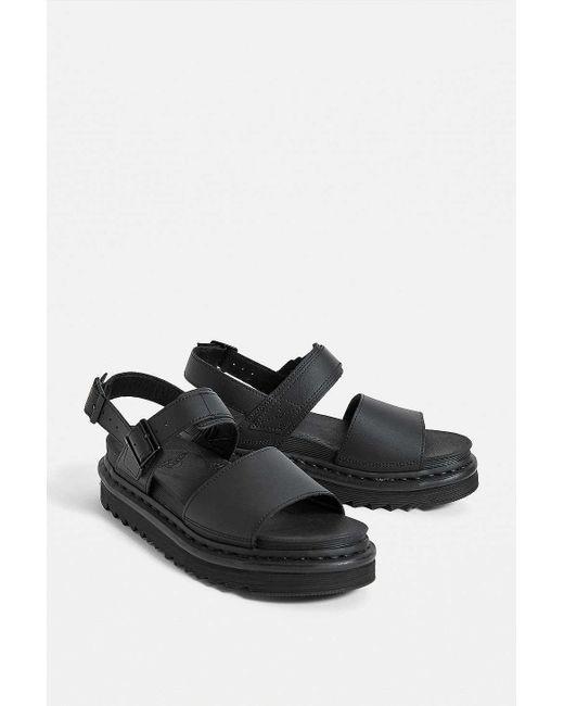Dr. Martens Women's Black Voss Hydro Leather Sandals