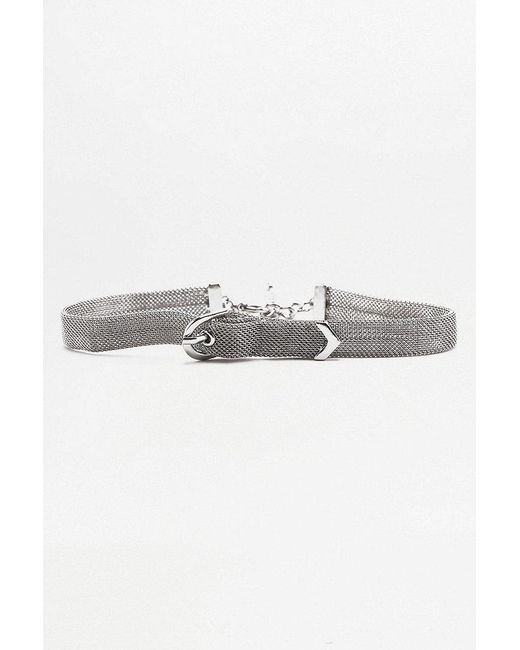 Urban Outfitters   Metallic Mesh Buckle Choker Necklace   Lyst