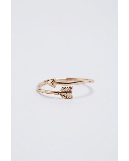 Urban Outfitters   Metallic Gold Arrow Ring   Lyst