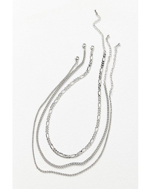 Urban Outfitters | Metallic Simple Chain Necklace Set | Lyst