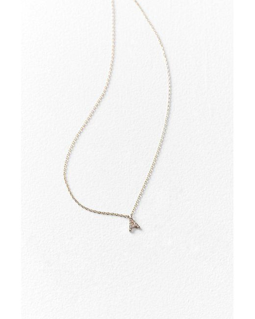 Urban Outfitters | Multicolor Rhinestone Initial Necklace | Lyst