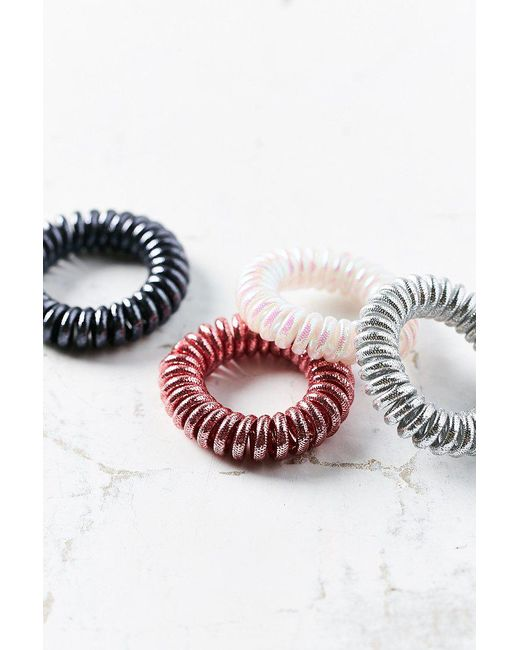Urban Outfitters | Pink Telephone Cord Hair Tie Set | Lyst