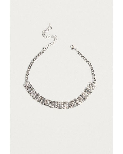 Urban Outfitters | Metallic Chunky Rhinestone Choker Necklace | Lyst