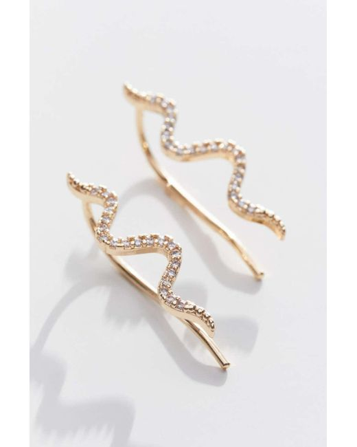 Urban Outfitters Multicolor Delicate Rhinestone Snake Earring