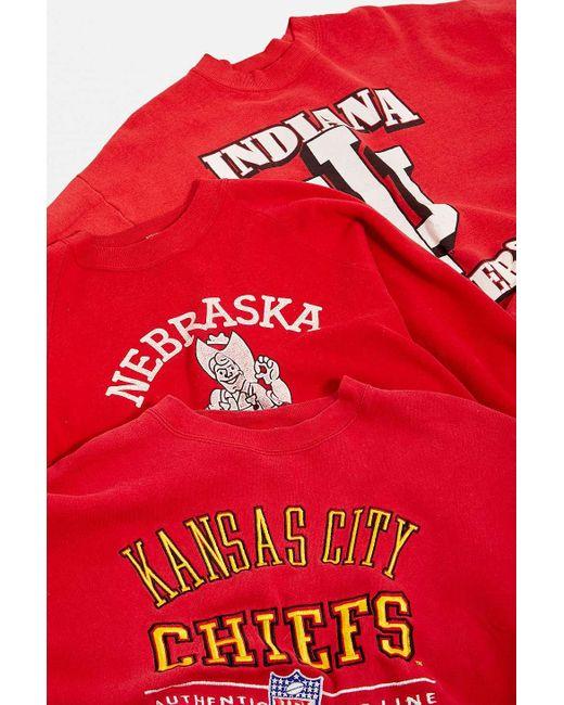 Urban Renewal Vintage Red Pro Sports Sweatshirt for men