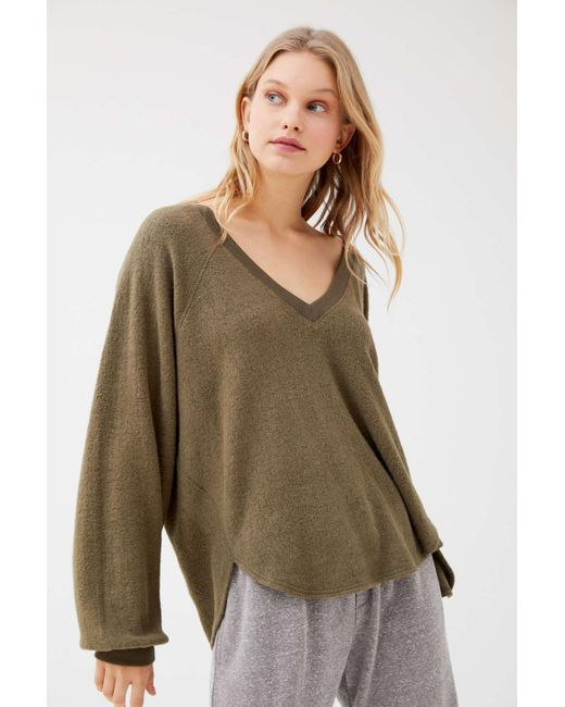 Urban Outfitters Multicolor Uo Lilith Cozy V-neck Top