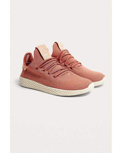 lyst adidas originals pharrell williams tennis - hu - trainer
