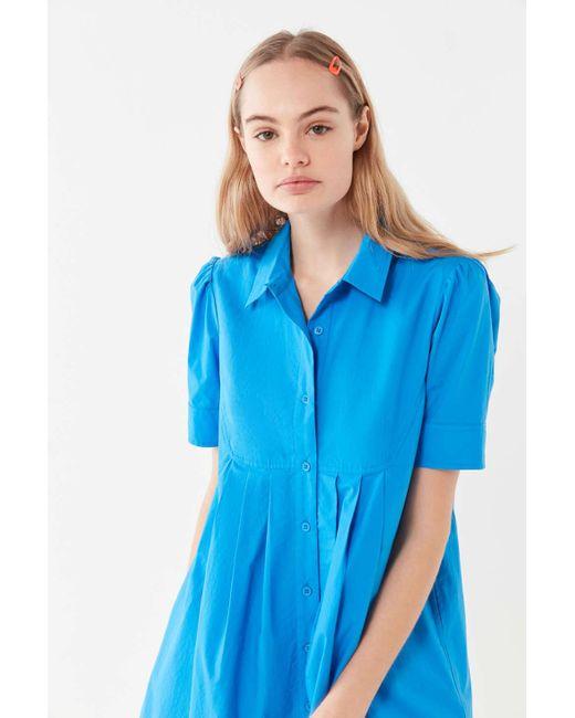 7a2a2788dd3 ... Urban Outfitters - Blue Uo Michaela Babydoll Mini Dress - Lyst