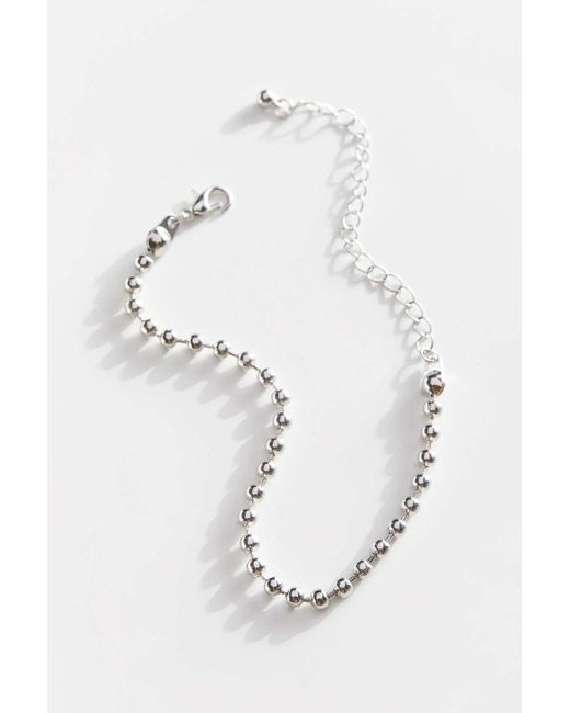 Urban Outfitters Metallic Ball Chain Bracelet