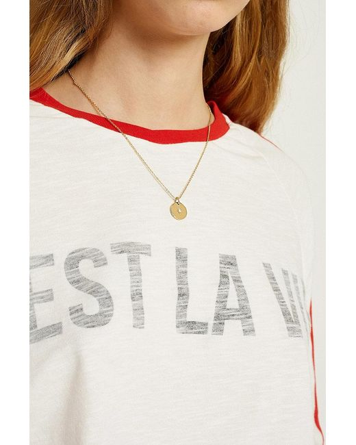 Urban Outfitters - Metallic Double Circle Necklace - Lyst