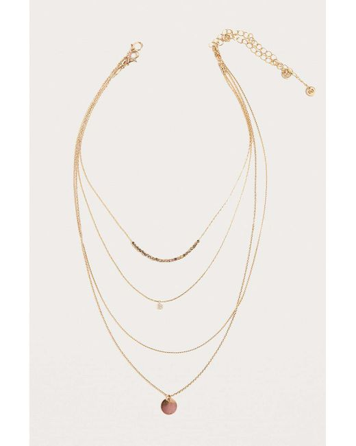 Urban Outfitters - Metallic Link Chain And Charm Layering Necklace 2-pack - Lyst
