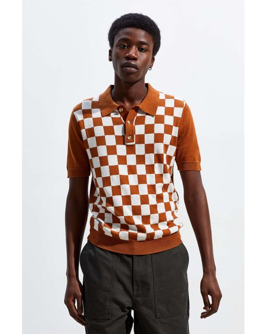 03742e2ea8 Urban Outfitters - Brown Uo Benny Sweater Polo Shirt - Lyst ...
