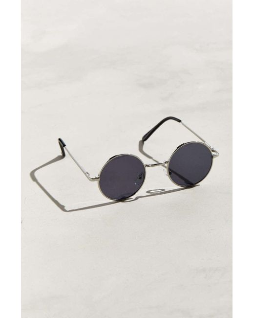 009b07e682 Urban Outfitters - Metallic  70s Round Sunglasses for Men - Lyst ...