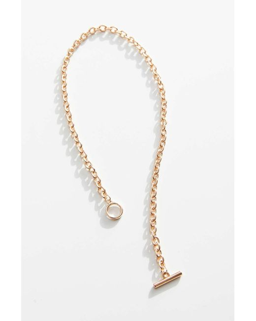 Urban Outfitters Metallic Emma Chain Toggle Necklace