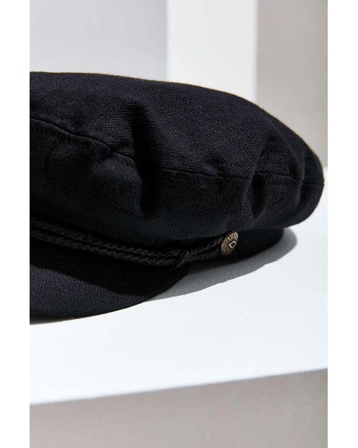 2ac94455354 ... Brixton - Black Fiddler Cotton Fisherman Hat - Lyst ...