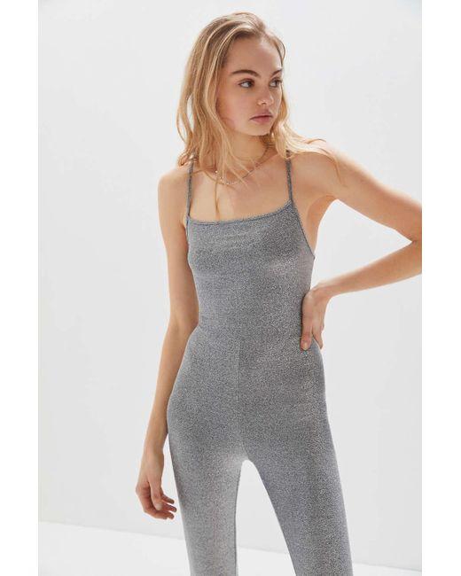 0262285319 ... Motel - Metallic Uo Exclusive Solina Glitter Jumpsuit - Lyst ...