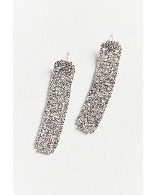 Urban Outfitters | Metallic Crystal Palace Rhinestone Statement Earring | Lyst