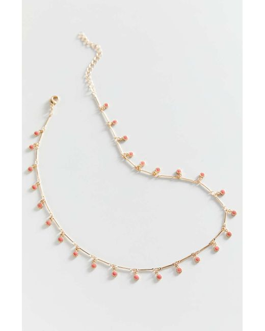 Urban Outfitters Metallic Nova Delicate Charm Necklace