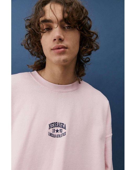 Urban Outfitters Uo Pink Nebraska Sweatshirt for men