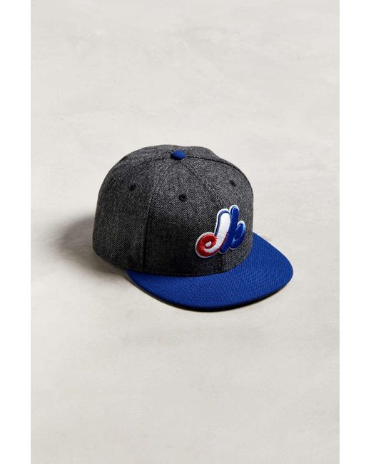 3f3dbcca51d KTZ - Gray Pattern Pop Montreal Expos Snapback Hat for Men - Lyst ...