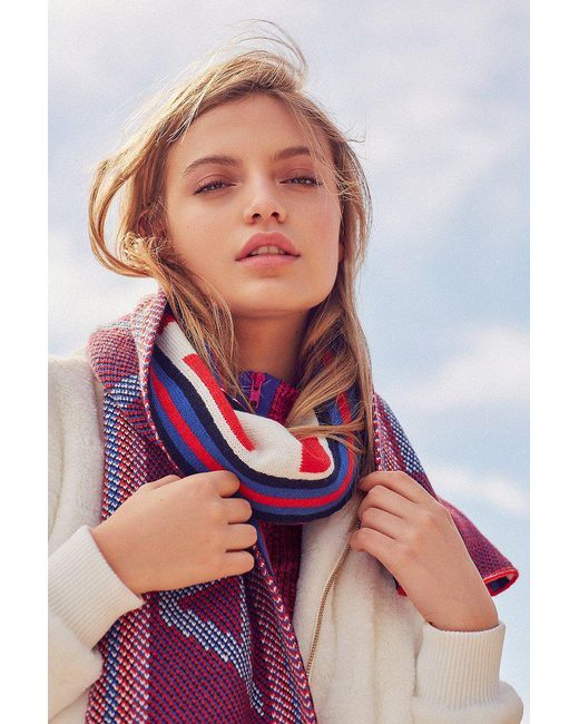 Urban Outfitters   Blue Uo Soccer Scarf   Lyst