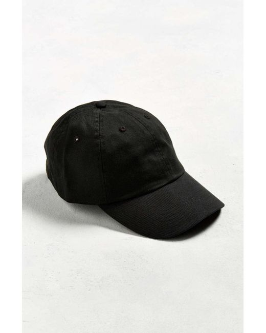 048eb90a04f Urban Outfitters - Black Uo Curved Brim Baseball Hat for Men - Lyst ...