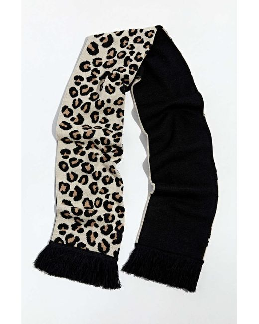 Urban Outfitters Multicolor Uo Leopard Scarf