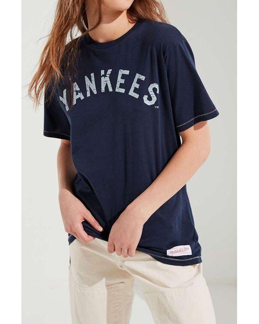 3b99abee2e80a ... Lyst Mitchell   Ness - Blue New York Yankees Tee ...