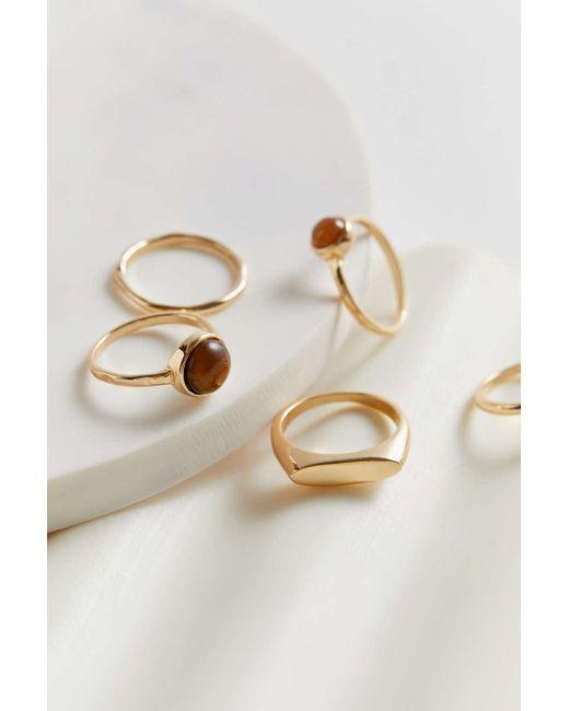 Urban Outfitters Metallic Paola Ring Set